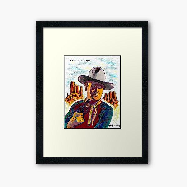JOHN WAYNE : Vintage Abstract Painting Print Framed Art Print