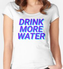 drink more water Women's Fitted Scoop T-Shirt