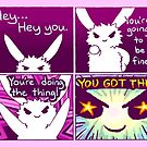 """""""YOU GOT THIS"""" Bunny Comic by thelatestkate"""