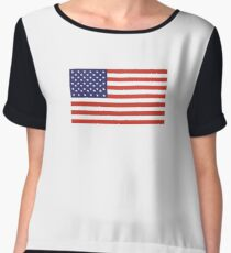 American Flag, Stars & Stripes, Pure & Simple, America, USA Women's Chiffon Top