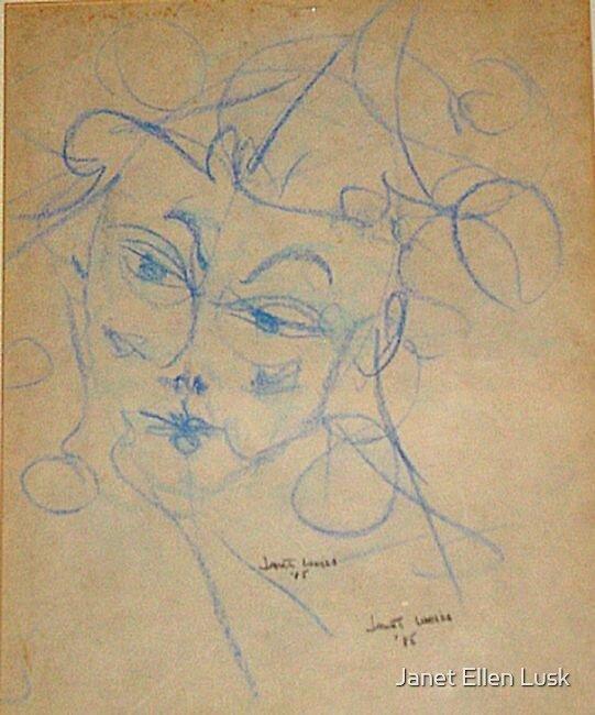 Self Portrait in Blue by Janet Ellen Lusk