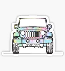 Pegatina Tie Dye Jeep