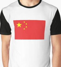 CHINA, CHINESE FLAG, Flag of China, China Flag, People's Republic of China, Pure & Simple, on White Graphic T-Shirt