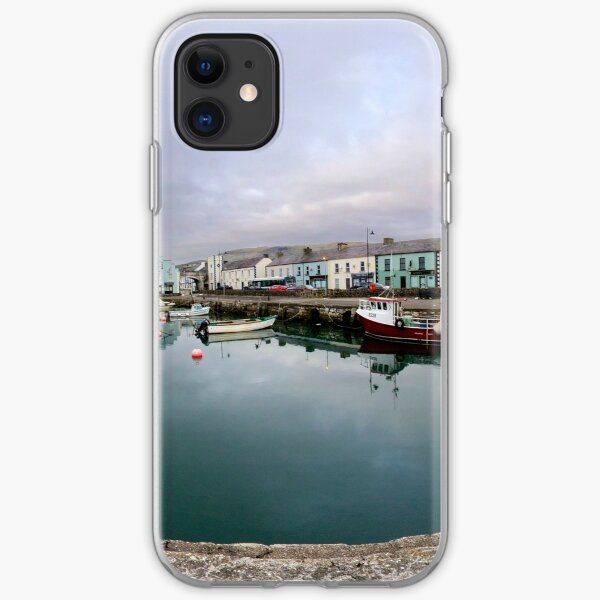 Hurry Head Harbour, Carnlough, County Antrim iPhone Soft Case
