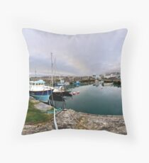 Hurry Head Harbour, Carnlough, County Antrim Floor Pillow
