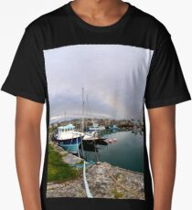 Hurry Head Harbour, Carnlough, County Antrim Long T-Shirt