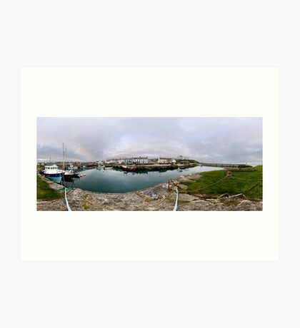 Hurry Head Harbour, Carnlough, County Antrim Art Print