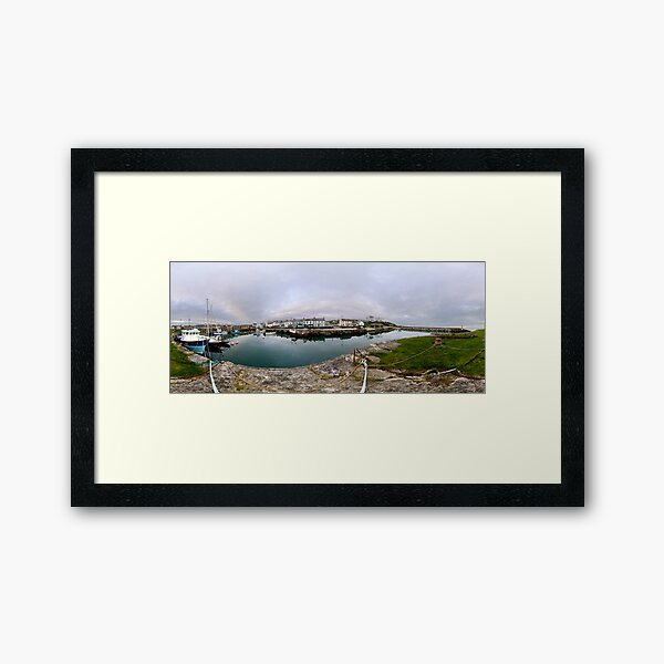 Hurry Head Harbour, Carnlough, County Antrim Framed Art Print