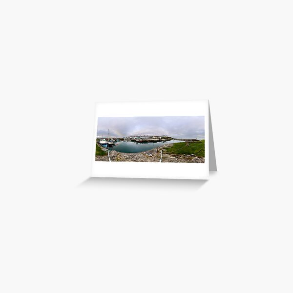 Hurry Head Harbour, Carnlough, County Antrim Greeting Card
