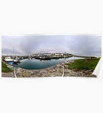 Hurry Head Harbour, Carnlough, County Antrim Poster