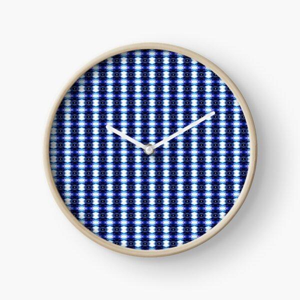 v blu pattern Clock