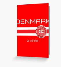 Football - Denmark (Home Red) Greeting Card