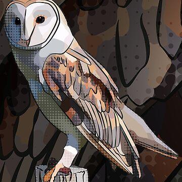 Barn Owl by BeeFoxTree