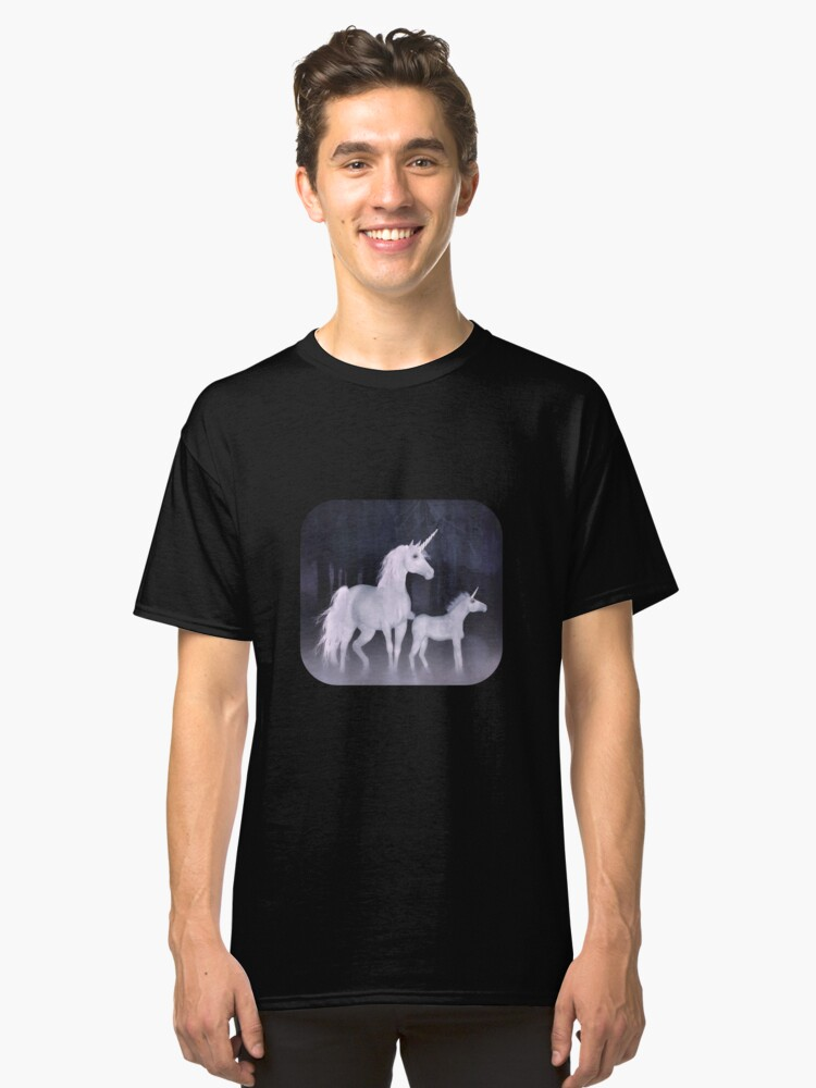 Alternate view of  Unicorns in the mist  Classic T-Shirt