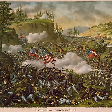 Civil War, Battle of Chickamauga, Confederate victory held off Union offensive for two months.  by TOMSREDBUBBLE