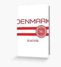 Football - Denmark (Away White) Greeting Card