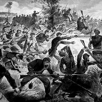 American, Civil War, Union forces performing a bayonet charge, 1862 by TOMSREDBUBBLE