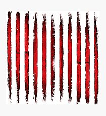 Grunge Red Lines Photographic Print
