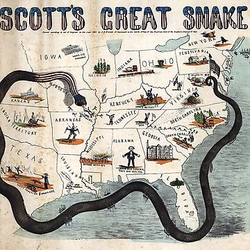 American Civil War, General Scott's 'Anaconda Plan, 1861.  by TOMSREDBUBBLE