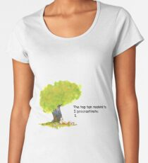 Calvin is a procrastinator Women's Premium T-Shirt