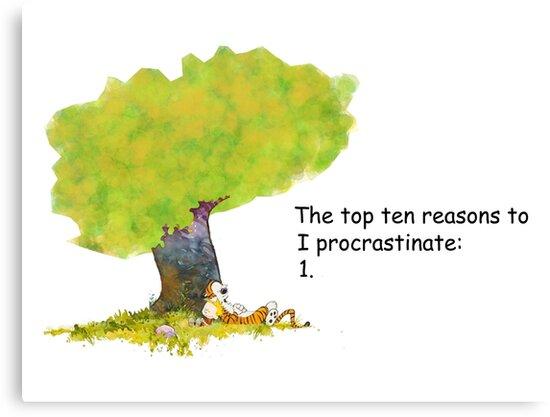 Calvin is a procrastinator by DrTigrou