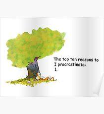Calvin is a procrastinator Poster