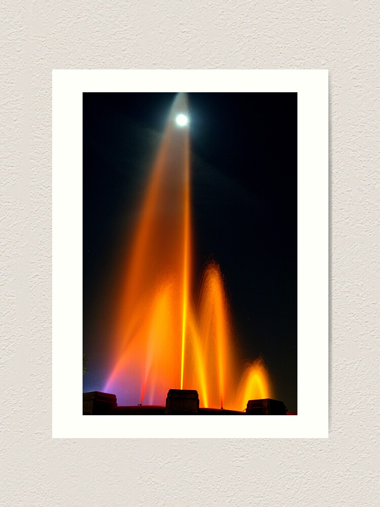 Alternate view of Lighted Mulholland Fountain Art Print