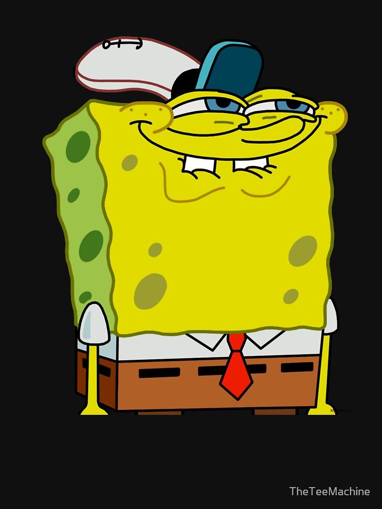 Grinning Spongebob - Funny Spongebob Meme Shirt by TheTeeMachine