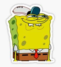 Grinning Spongebob - Funny Spongebob Meme Shirt Sticker