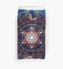 Metatron's Cube - Merkabah - Peace and Balance Duvet Cover