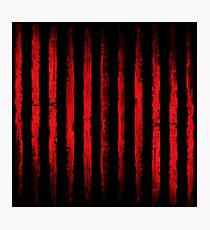 Vintage Red Lines Photographic Print