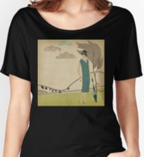 Strolling Through The Park 1920's Women's Relaxed Fit T-Shirt