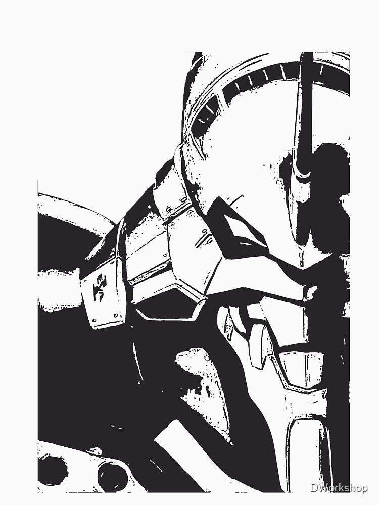 Evangelion Unit-01 Blanco y negro de DWorkshop