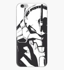 Evangelion Unit-01 Black and White iPhone Case