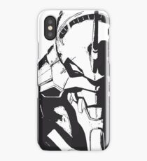 Evangelion Unit-01 Black and White iPhone Case/Skin