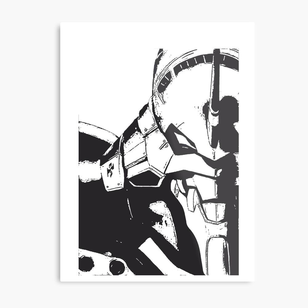 Evangelion Unit-01 Blanco y negro Lámina metálica
