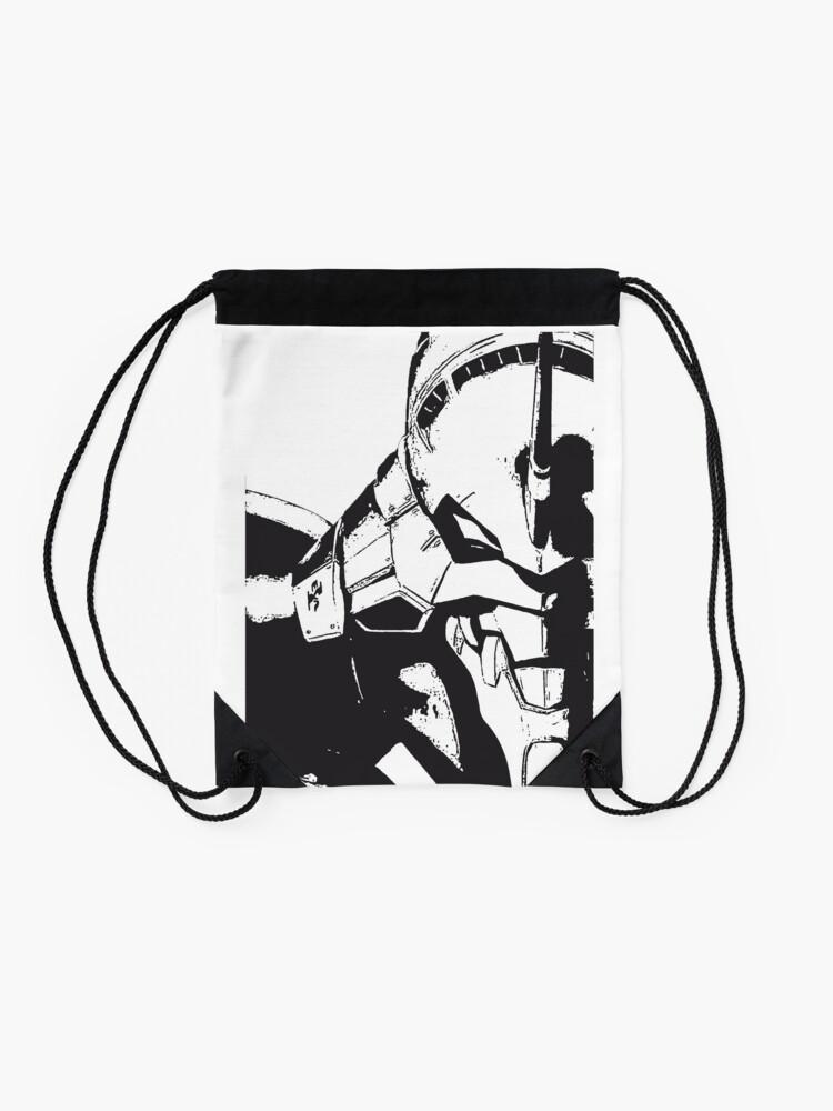 Vista alternativa de Mochila saco Evangelion Unit-01 Blanco y negro
