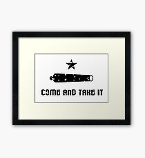 TEXAS, Come and Take It Flag, 1835, Used by settlers at the Battle of Gonzales, 1835 Framed Print