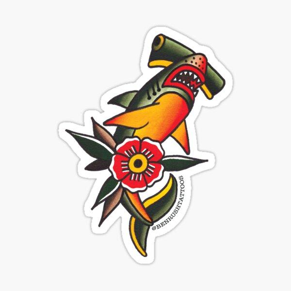 Ben Rush Tattoos Haifisch-Aufkleber Sticker