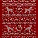 Ugly Christmas sweater dog edition - Boxer red by Camilla Mikaela Häggblom