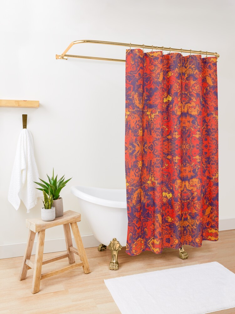 Alternate view of Moroccan Red Shower Curtain