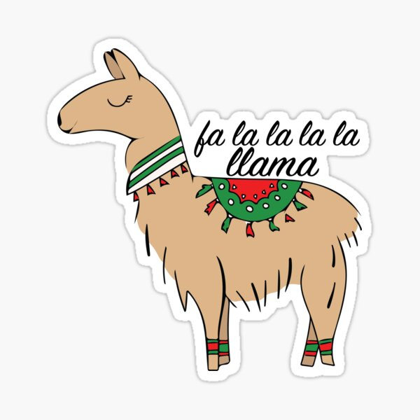 Fa La La La Llama Sticker