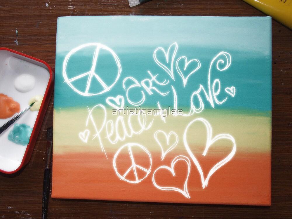Art, Peace + Love by Amy-lee Foley