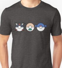 Alolan Starters as Pokeballs! T-Shirt