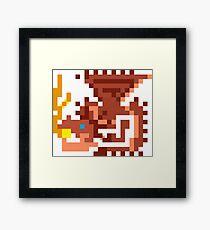 Pixel Rathalos Framed Print