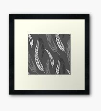 feathers, leaves, graphics Framed Print