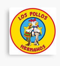 Los Pollos Hermanos Circle Logo - Breaking Bad TV Show Parody Canvas Print