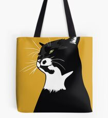 Popup cat yellow Tote Bag