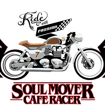 winged Cafe Racer Soul Mover with type by SFDesignstudio