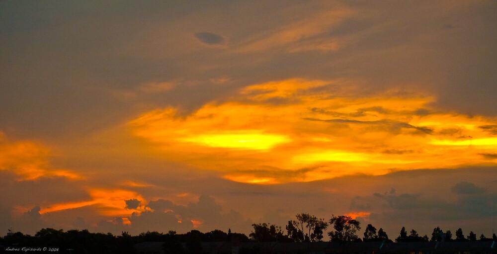 Sunset at Iguaçu by Andrea Rapisarda